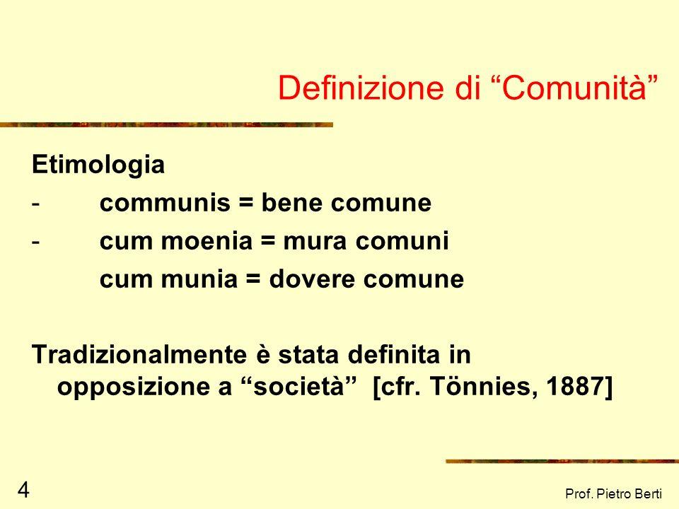 Definizione di Comunità