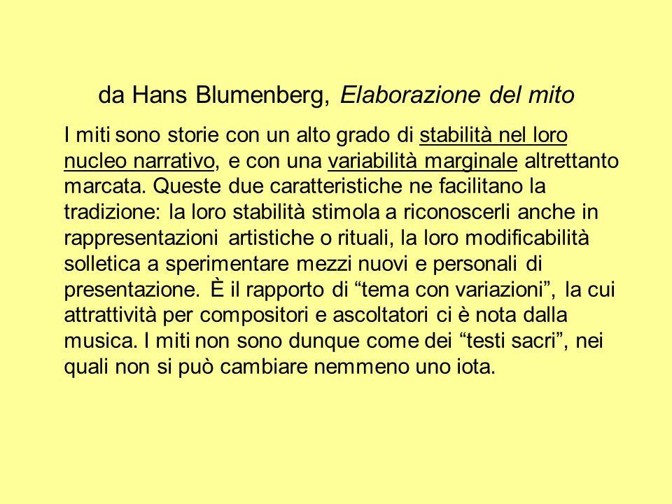 da Hans Blumenberg, Elaborazione del mito
