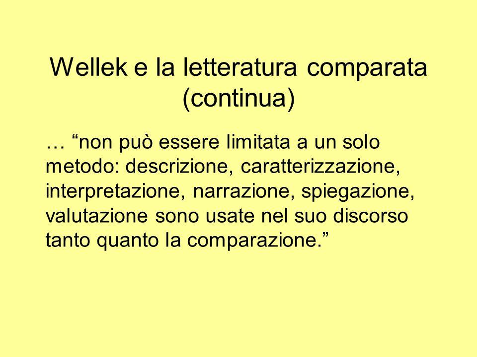 Wellek e la letteratura comparata (continua)