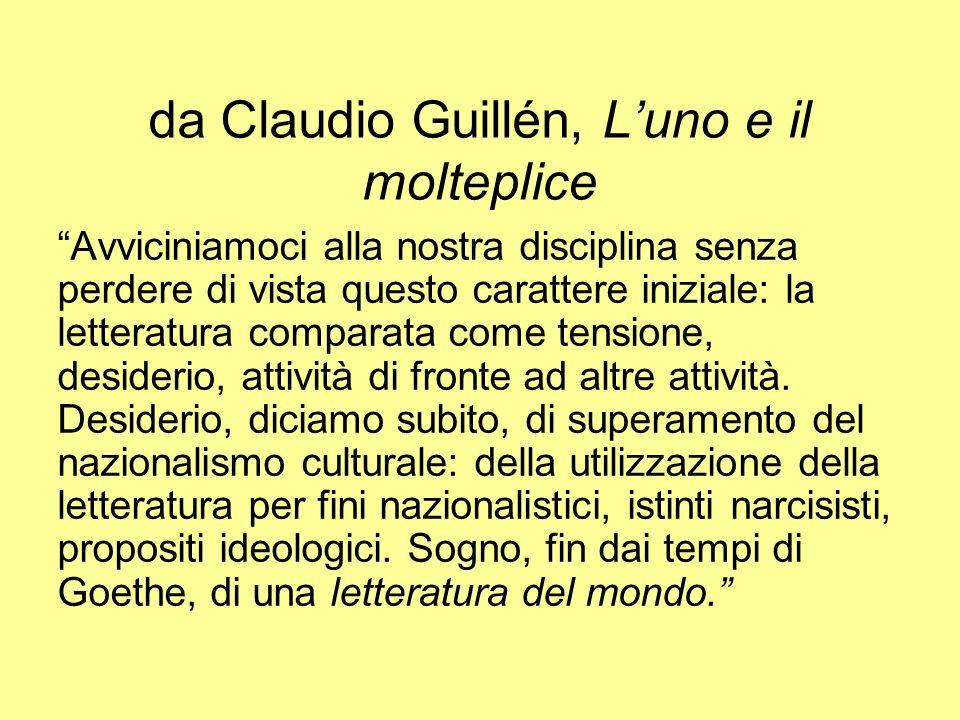 da Claudio Guillén, L'uno e il molteplice