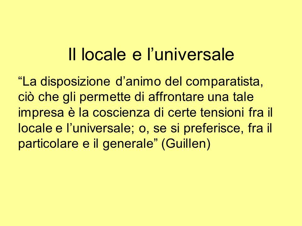 Il locale e l'universale