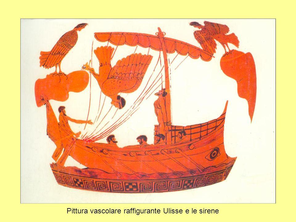 Pittura vascolare raffigurante Ulisse e le sirene