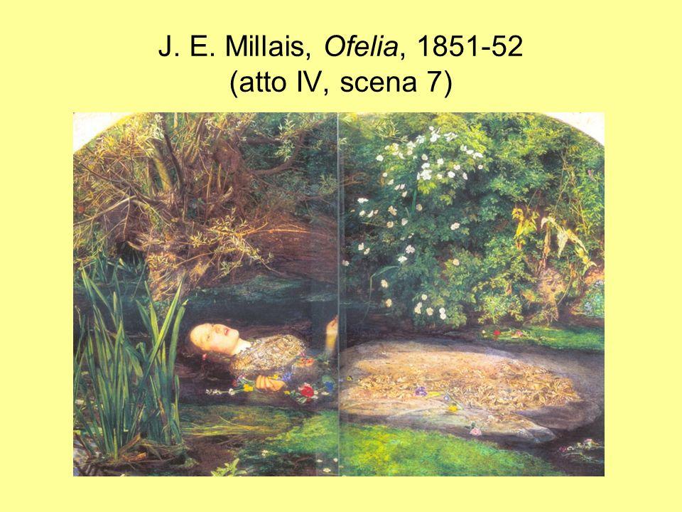 J. E. Millais, Ofelia, 1851-52 (atto IV, scena 7)