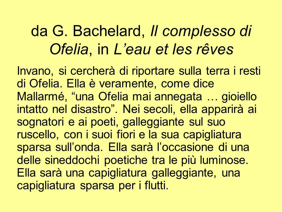 da G. Bachelard, Il complesso di Ofelia, in L'eau et les rêves