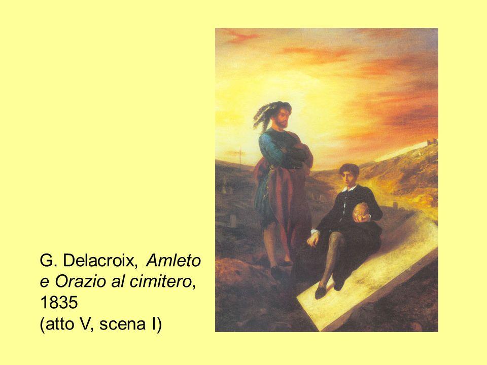 G. Delacroix, Amleto e Orazio al cimitero, 1835