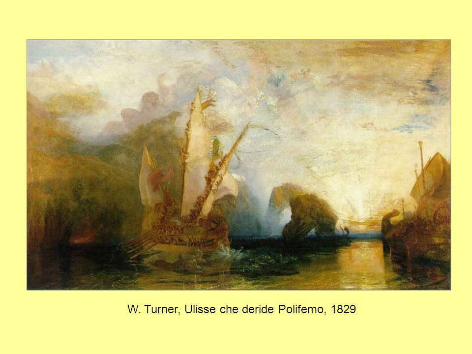 W. Turner, Ulisse che deride Polifemo, 1829