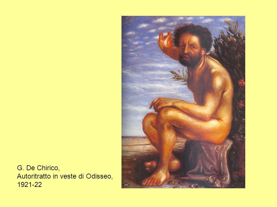 G. De Chirico, Autoritratto in veste di Odisseo, 1921-22