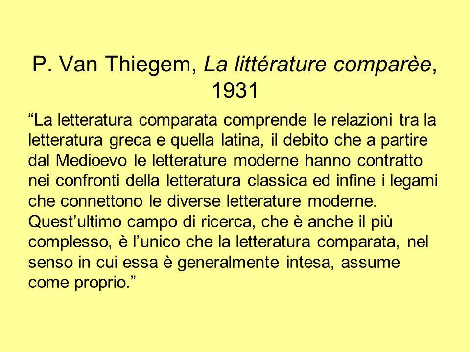 P. Van Thiegem, La littérature comparèe, 1931