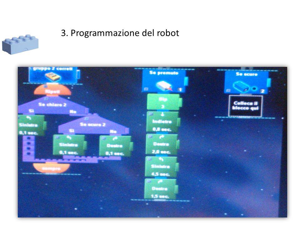 3. Programmazione del robot
