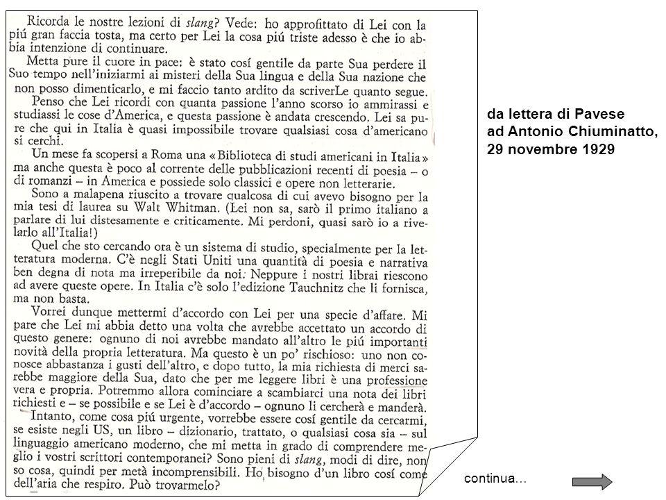 ad Antonio Chiuminatto, 29 novembre 1929