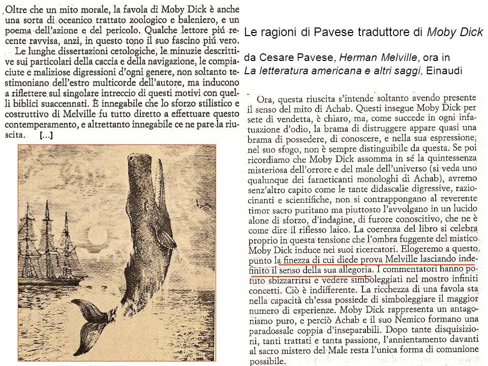 Le ragioni di Pavese traduttore di Moby Dick