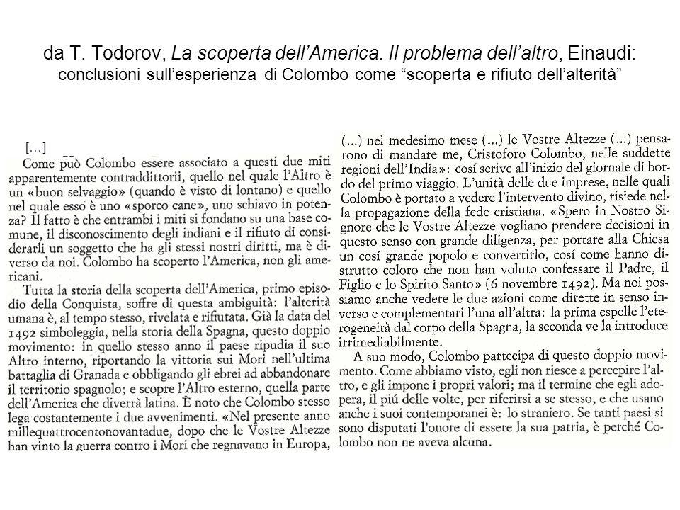 da T. Todorov, La scoperta dell'America