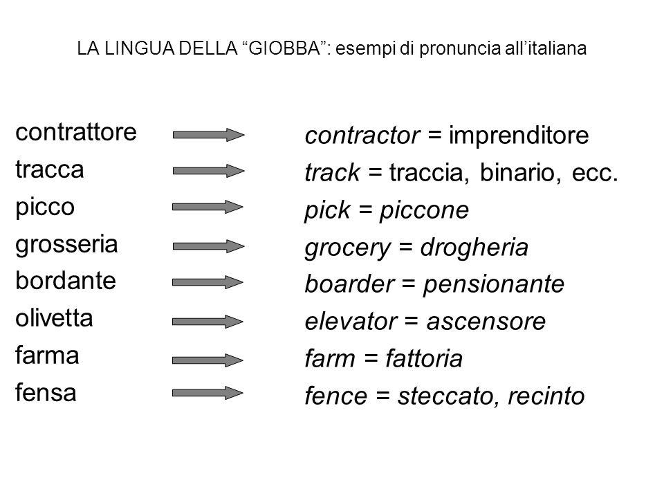 LA LINGUA DELLA GIOBBA : esempi di pronuncia all'italiana