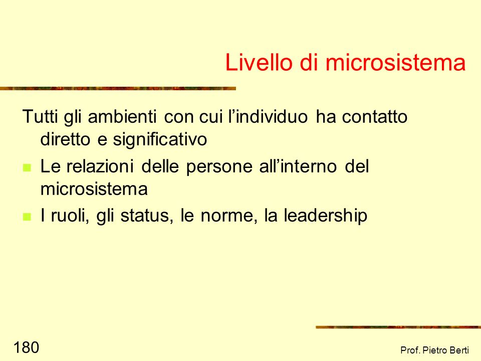 Livello di microsistema