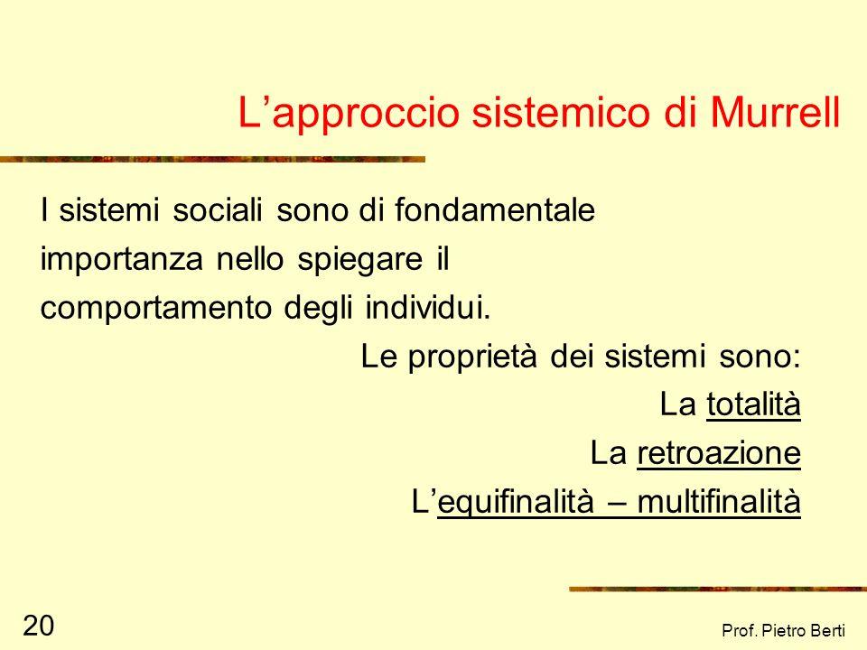 L'approccio sistemico di Murrell