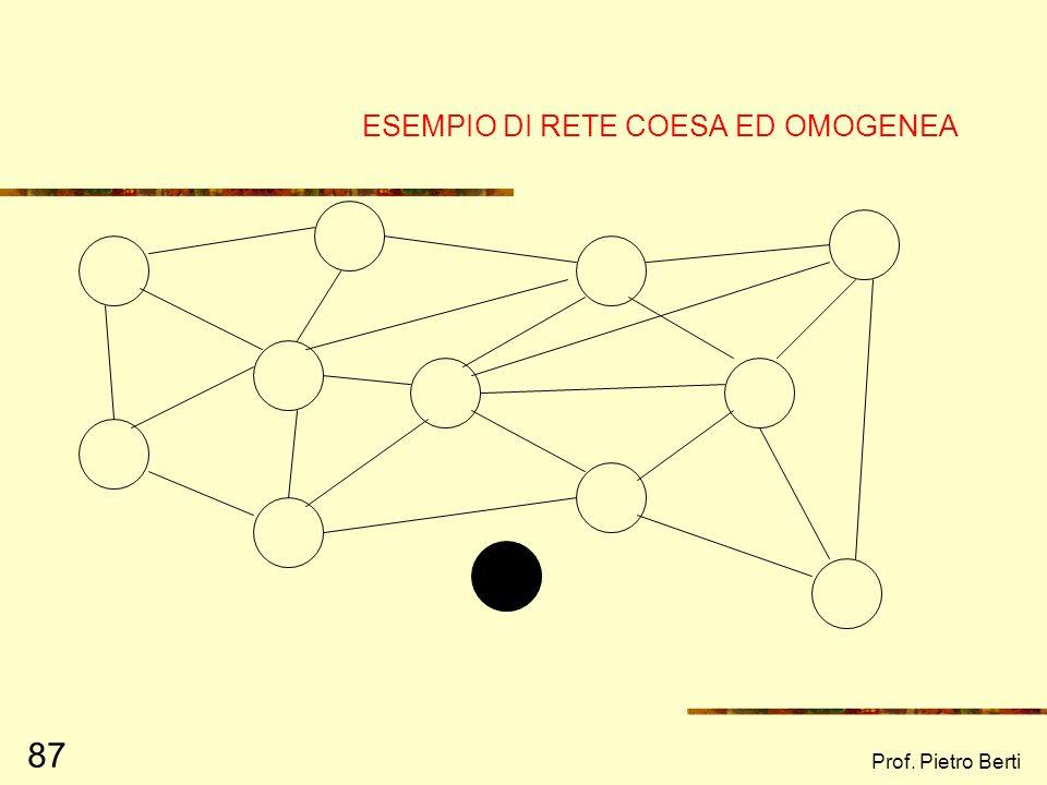 ESEMPIO DI RETE COESA ED OMOGENEA