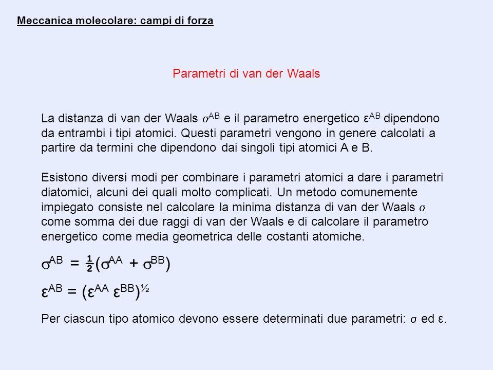 Parametri di van der Waals