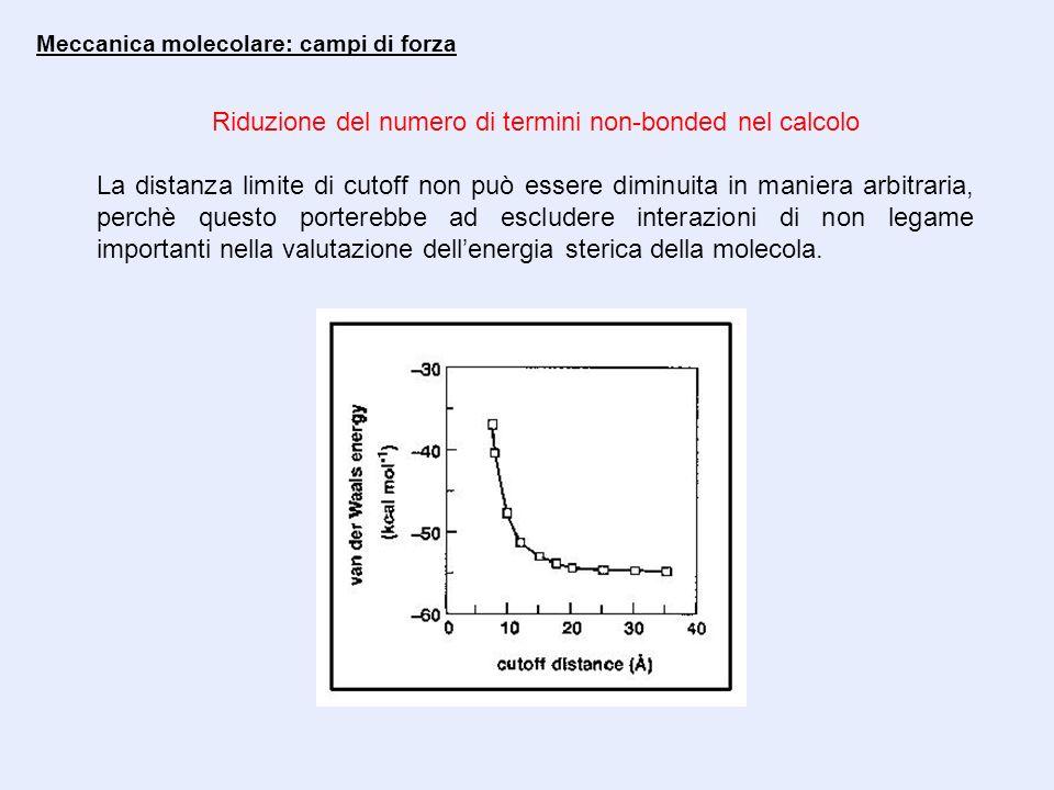 Riduzione del numero di termini non-bonded nel calcolo
