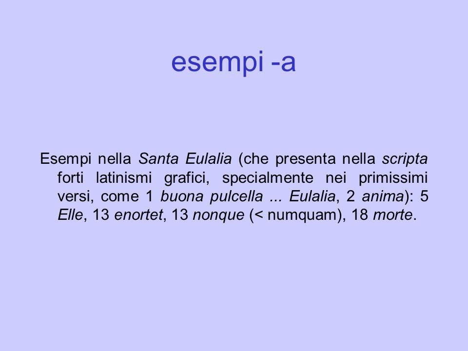 esempi -a