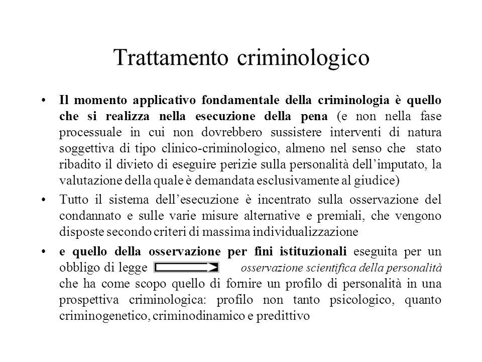 Trattamento criminologico