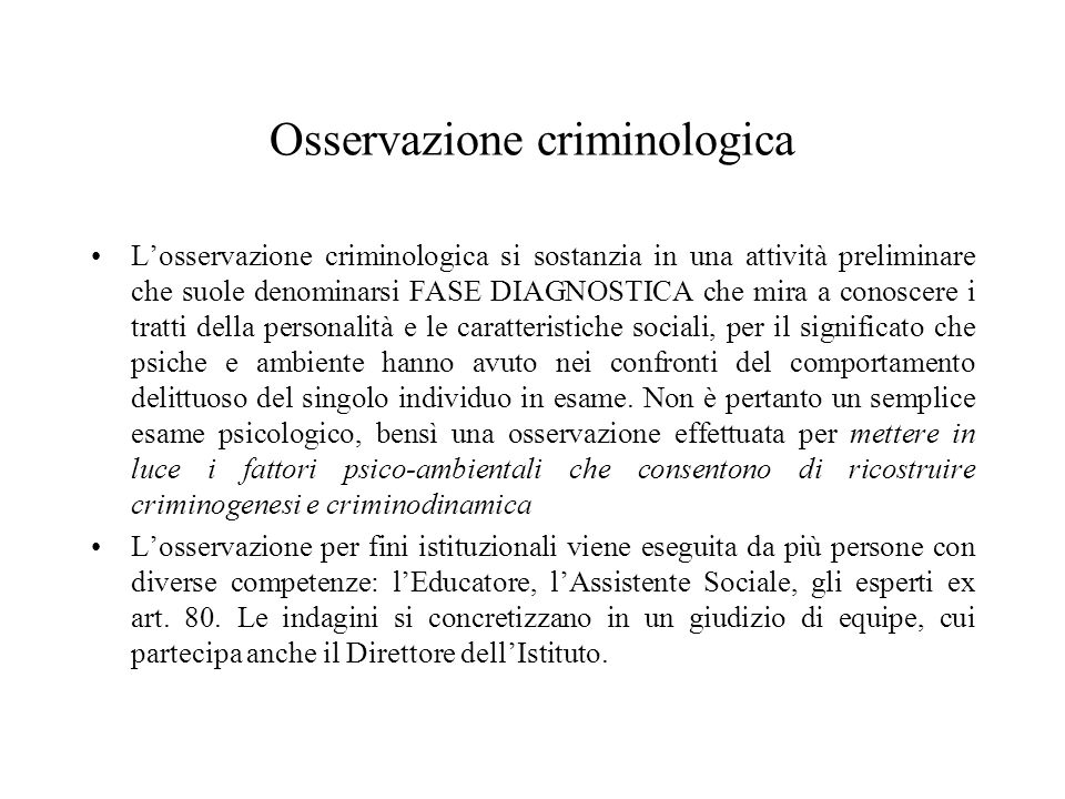 Osservazione criminologica