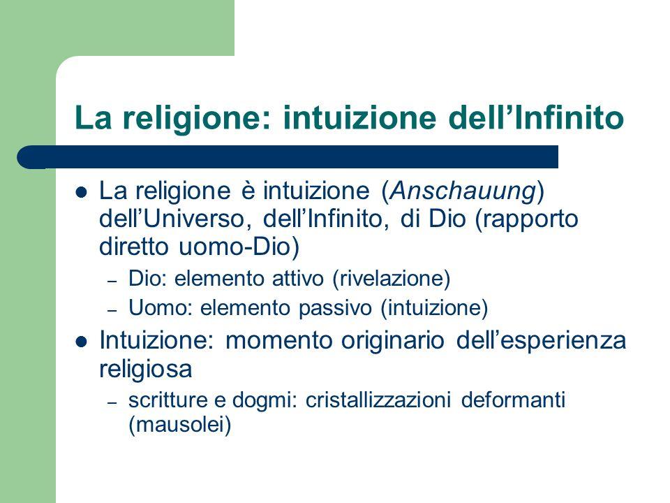 La religione: intuizione dell'Infinito