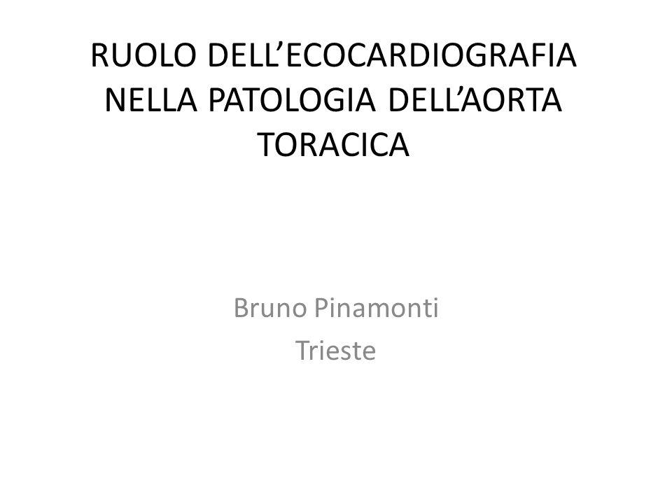 RUOLO DELL'ECOCARDIOGRAFIA NELLA PATOLOGIA DELL'AORTA TORACICA