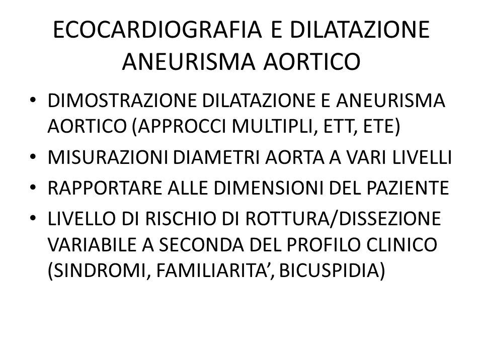 ECOCARDIOGRAFIA E DILATAZIONE ANEURISMA AORTICO
