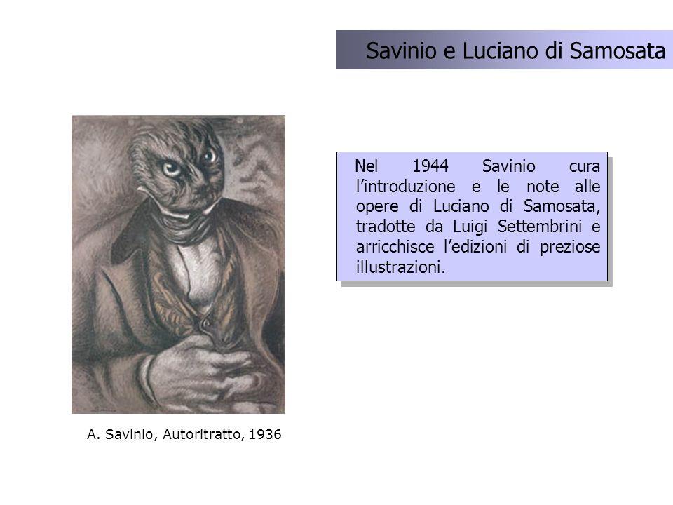 Savinio e Luciano di Samosata