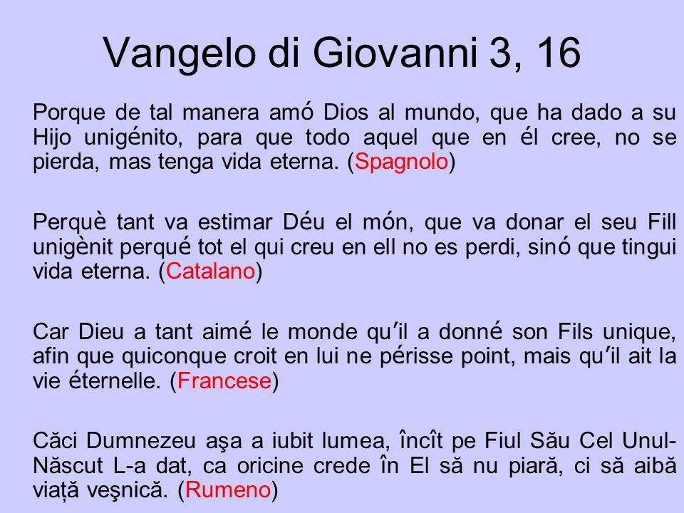 Vangelo di Giovanni 3, 16