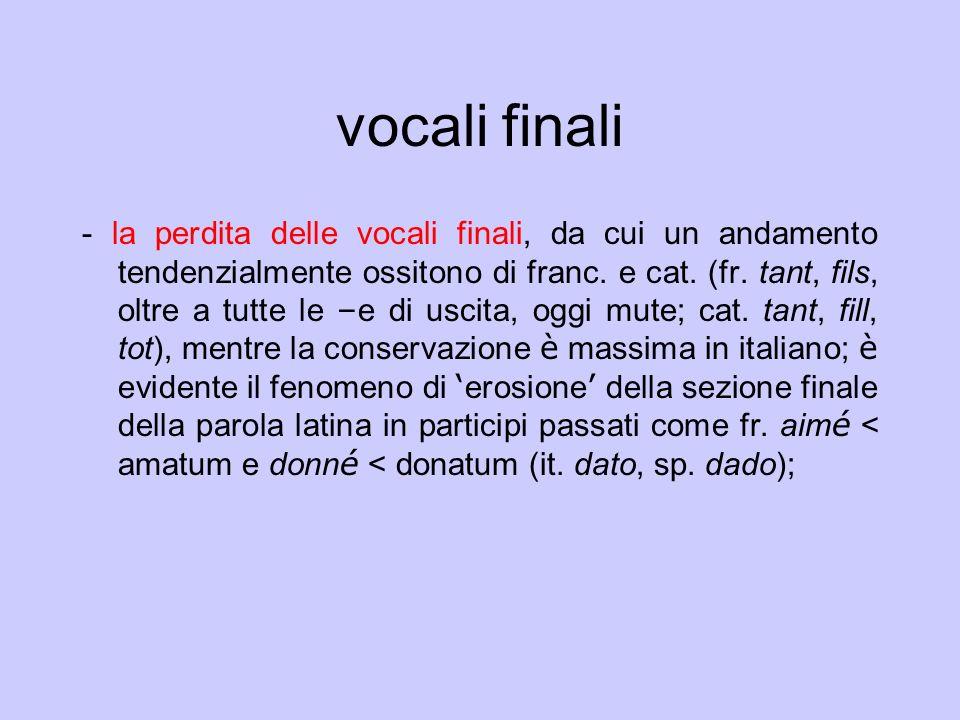 vocali finali