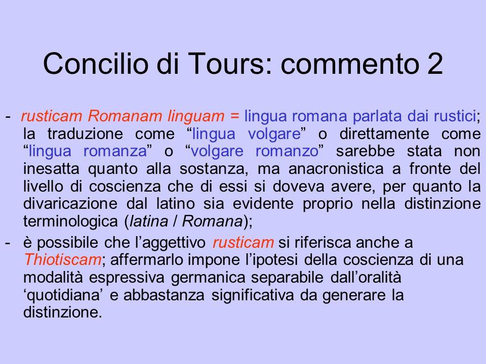 Concilio di Tours: commento 2