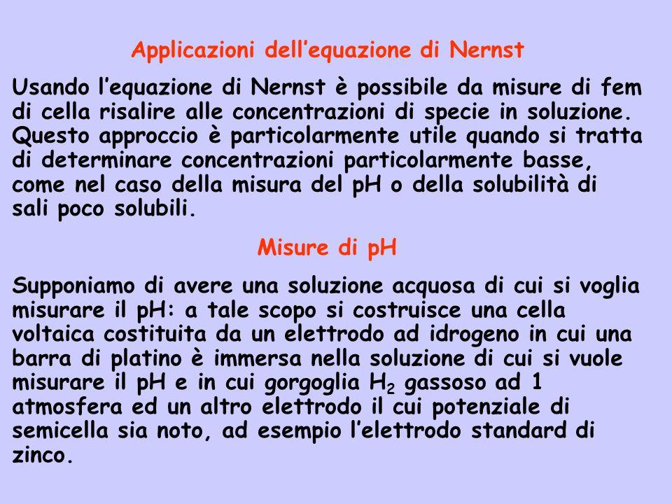 Applicazioni dell'equazione di Nernst