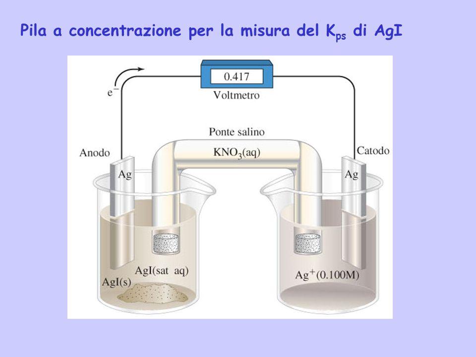 Pila a concentrazione per la misura del Kps di AgI