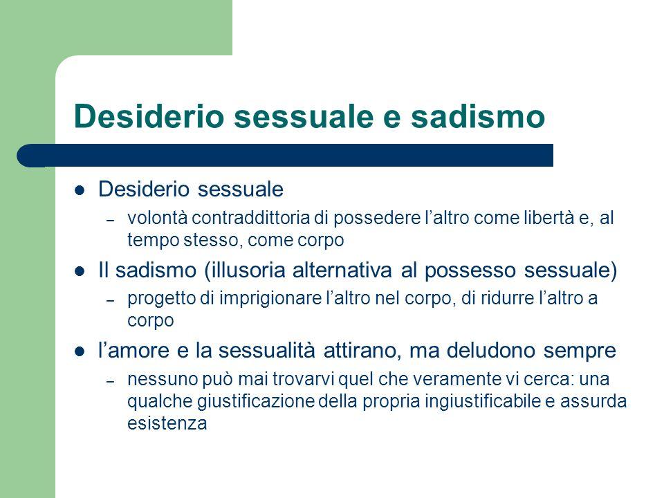 Desiderio sessuale e sadismo