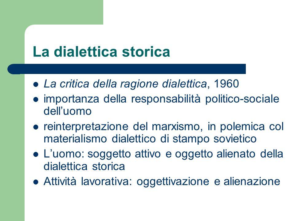 La dialettica storica La critica della ragione dialettica, 1960