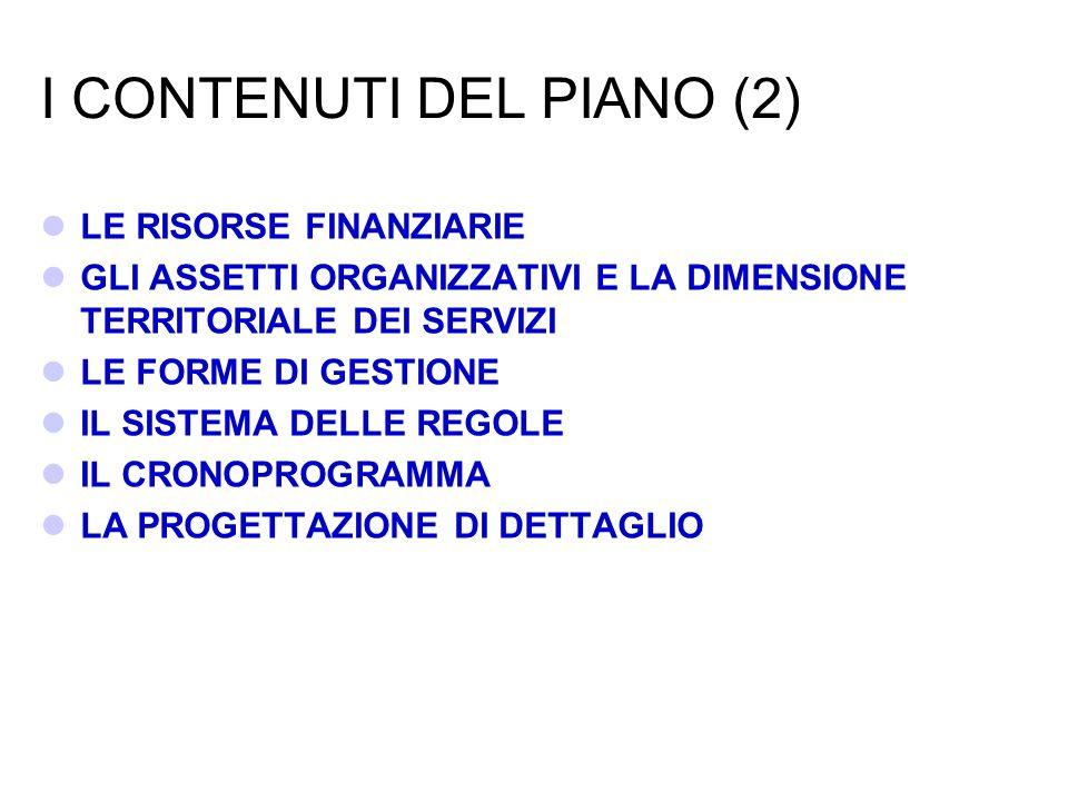 I CONTENUTI DEL PIANO (2)
