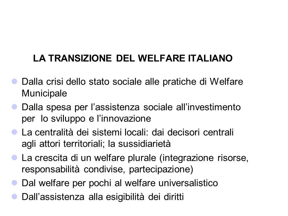 LA TRANSIZIONE DEL WELFARE ITALIANO