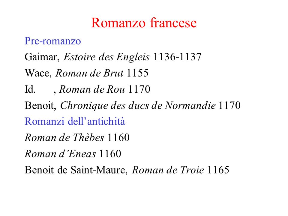 Romanzo francese Pre-romanzo Gaimar, Estoire des Engleis 1136-1137