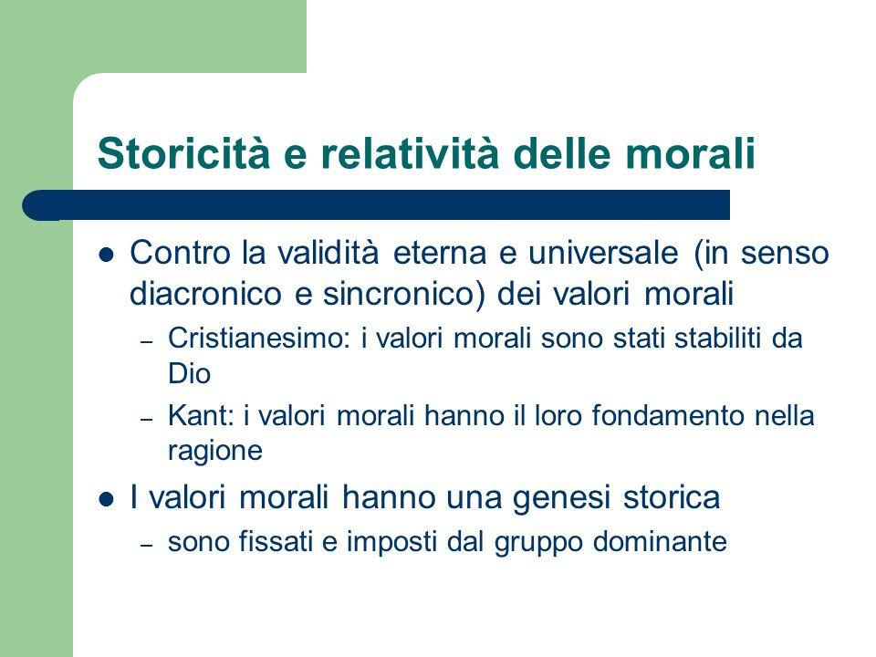 Storicità e relatività delle morali