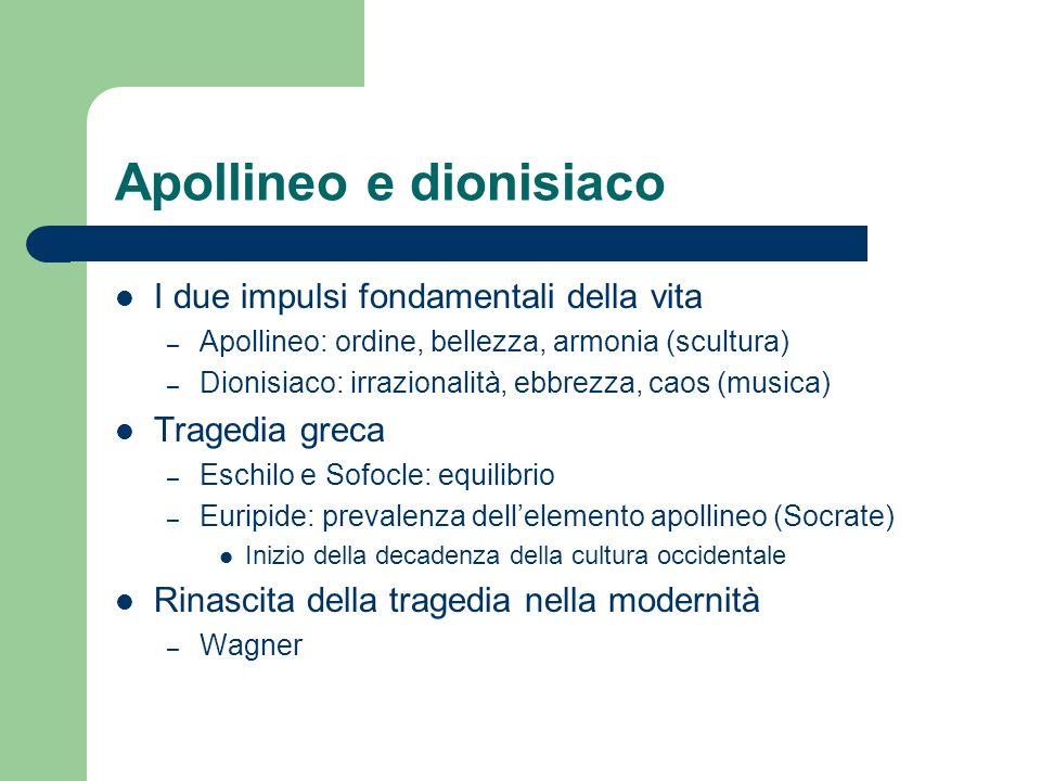 Apollineo e dionisiaco