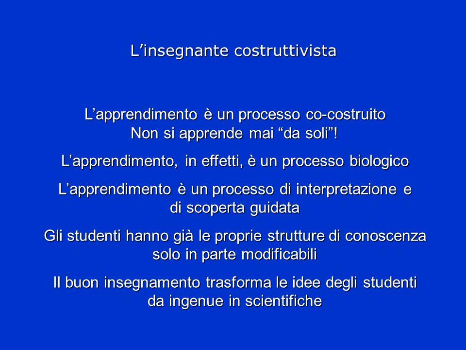 L'insegnante costruttivista