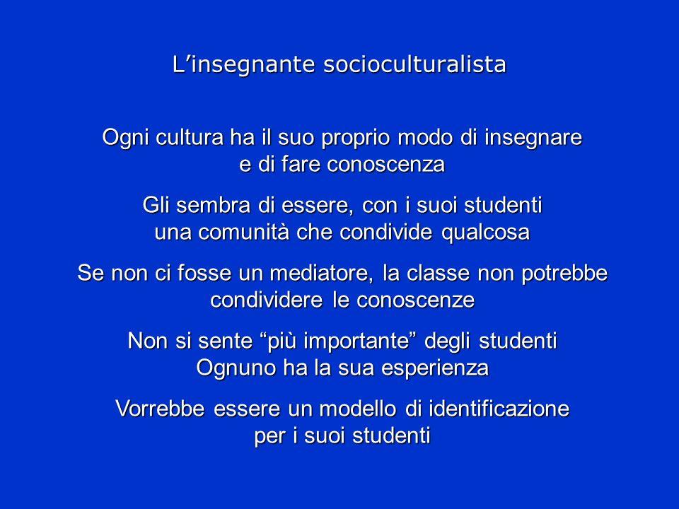 L'insegnante socioculturalista