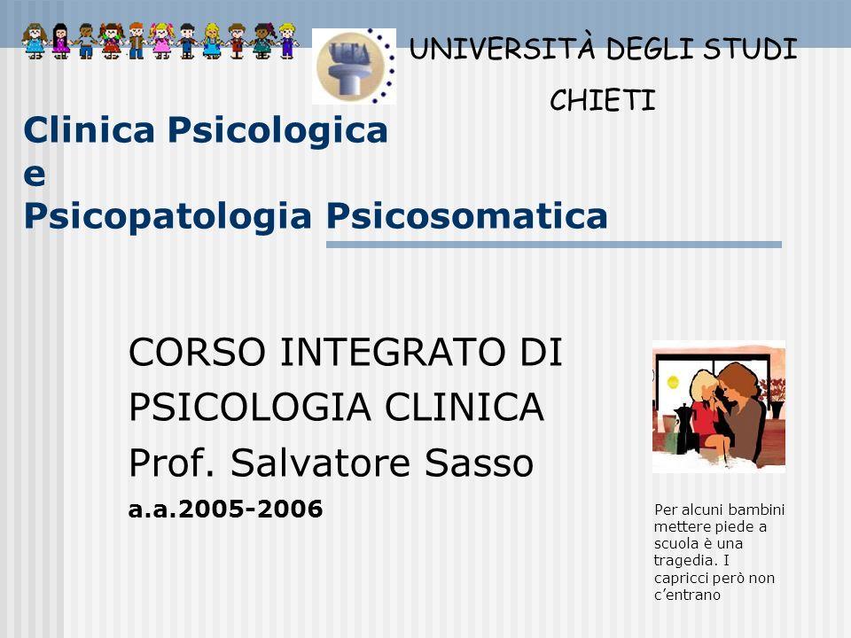 Clinica Psicologica e Psicopatologia Psicosomatica