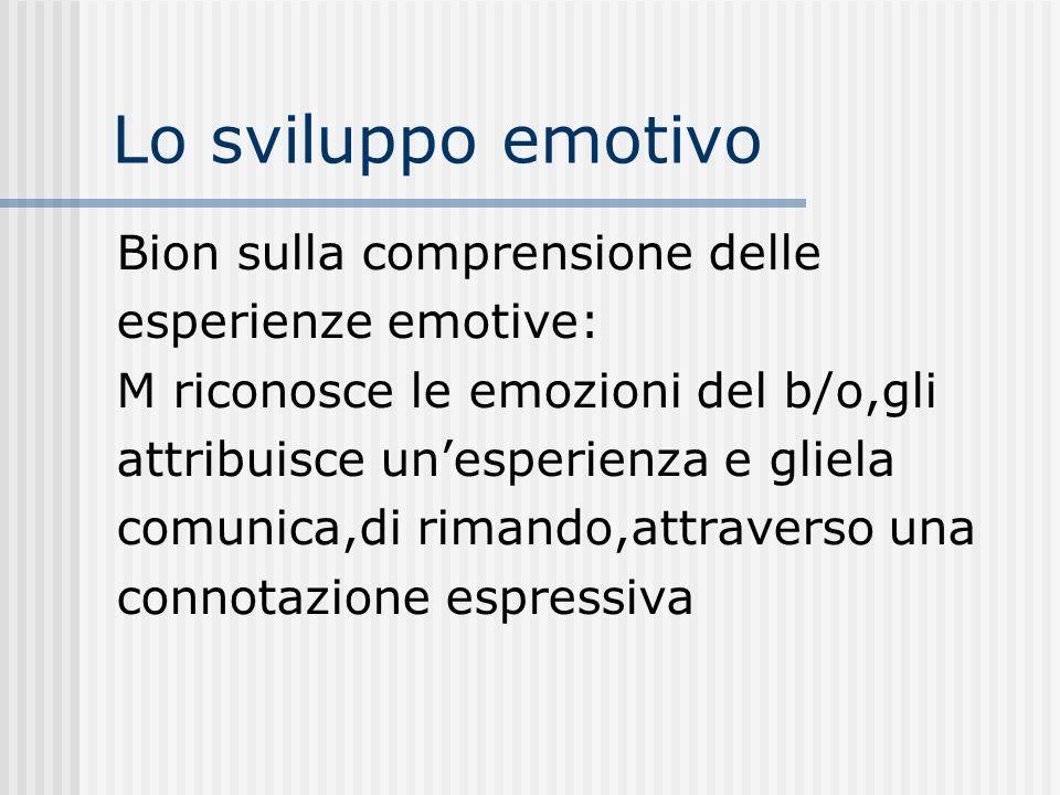 Lo sviluppo emotivo Bion sulla comprensione delle esperienze emotive: