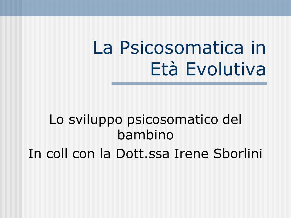 La Psicosomatica in Età Evolutiva