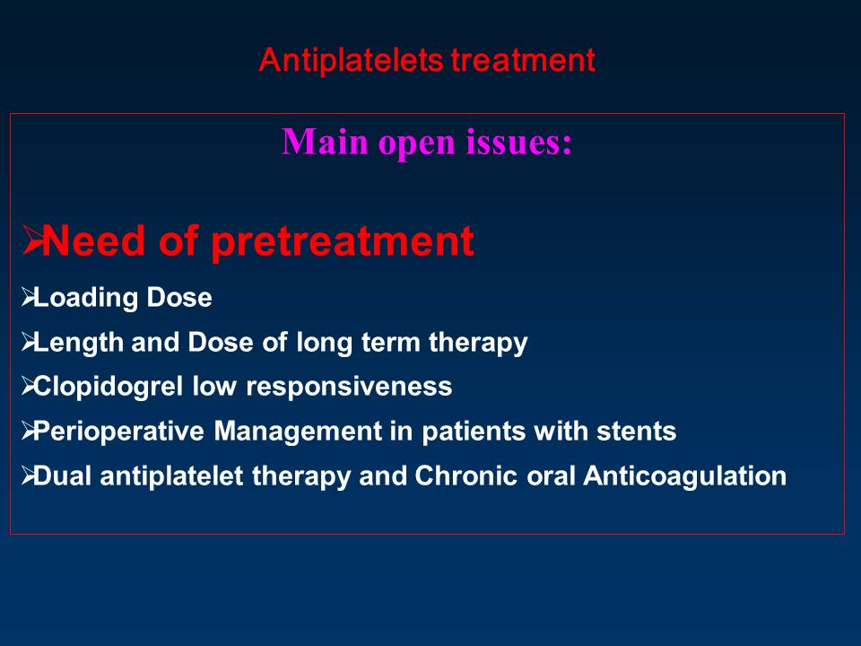 Antiplatelets treatment
