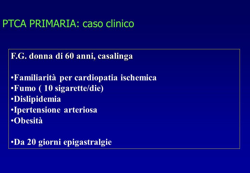 PTCA PRIMARIA: caso clinico