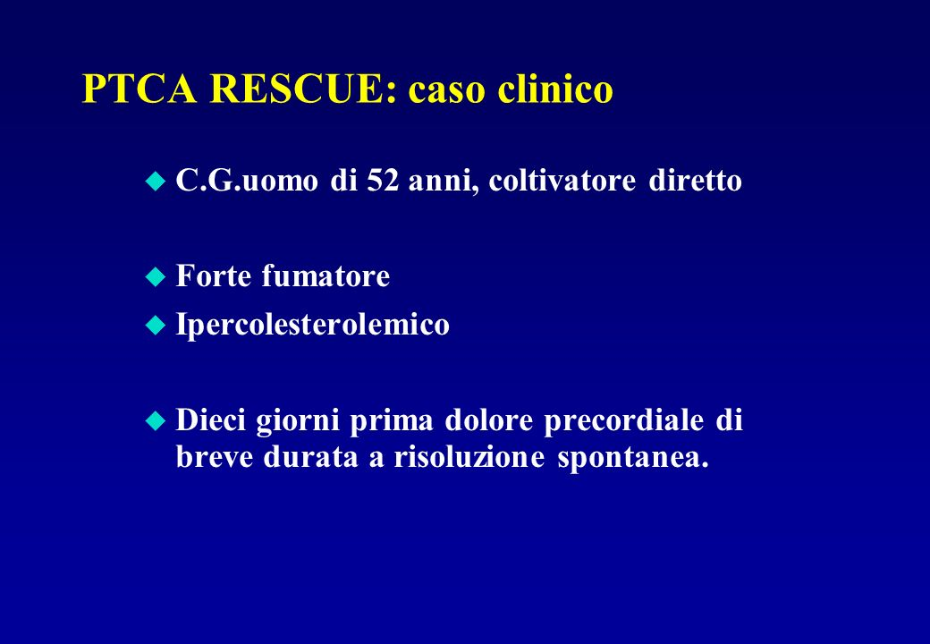 PTCA RESCUE: caso clinico