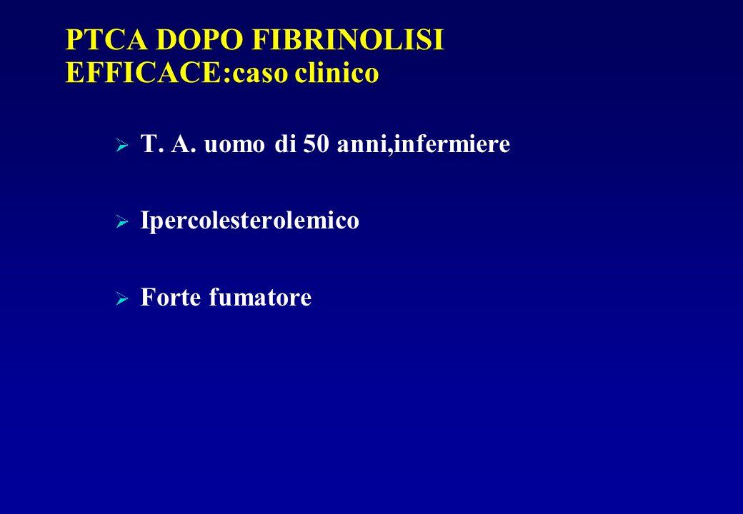 PTCA DOPO FIBRINOLISI EFFICACE:caso clinico